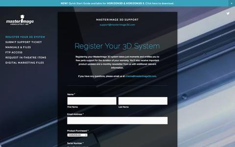 Screenshot of Support Page masterimage3d.com - MasterImage 3D Support - captured Sept. 16, 2014