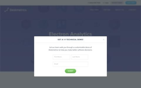 Deskmetrics for Electron - Deskmetrics