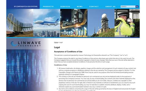 Screenshot of Terms Page linwave.co.uk - Legal - - captured Dec. 15, 2018