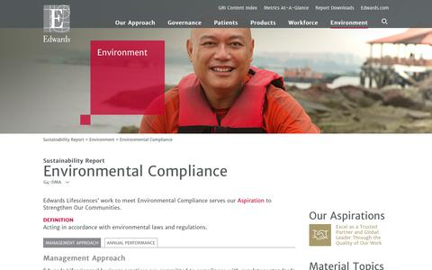 Edwards 2016 Sustainability Report   Environmental Compliance