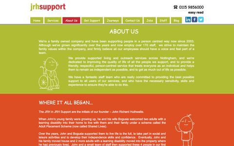 Screenshot of About Page jrhsupport.co.uk - JRH Support - About Us - captured May 27, 2017