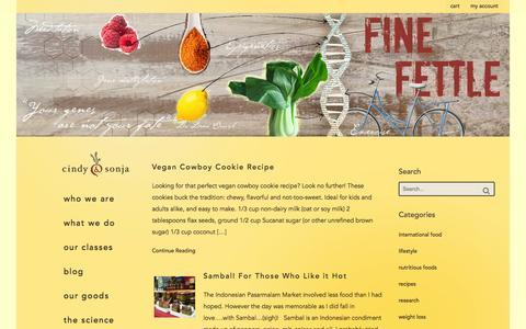 Screenshot of Blog cindyandsonja.com - Blog - Cindy & Sonja's Plant-Based Community - captured Oct. 2, 2014