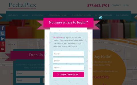 Screenshot of Contact Page pediaplex.net - Say Hello! - PediaPlex - captured Dec. 7, 2015