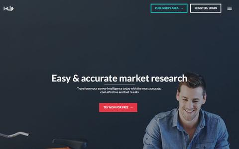Online Survey Tool, Fast & Accurate Market Research - Pollfish.com
