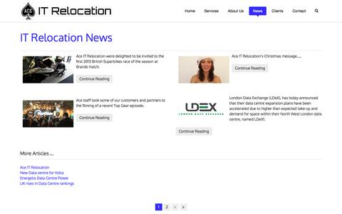 Screenshot of Press Page aceitrelocation.co.uk - IT Relocation News - captured Oct. 7, 2017