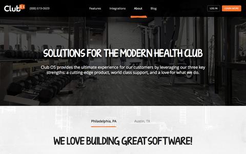 Screenshot of About Page club-os.com - About | Club OS | Health Club Sales Software - captured May 18, 2017