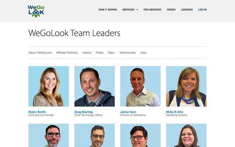 Screenshot of Team Page wegolook.com - WeGoLook - Team - captured Oct. 29, 2014