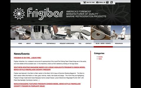 Screenshot of Press Page frigibar.com - Frigibar Ensign Model Bench-Style Cockpit Freezer Featured in Marlin Magazine! - captured Oct. 6, 2014