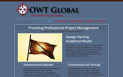 Screenshot of Home Page owtglobal.com - OWT Global - captured Sept. 30, 2014