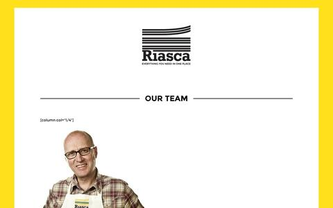 Screenshot of Team Page riasca.co.uk - Our Team | Riasca Paper & Print - captured Oct. 9, 2014