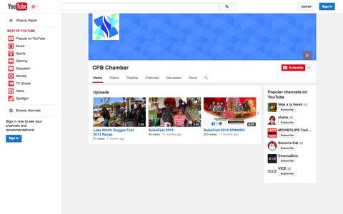 Screenshot of YouTube Page youtube.com - CPB Chamber  - YouTube - captured Oct. 22, 2014