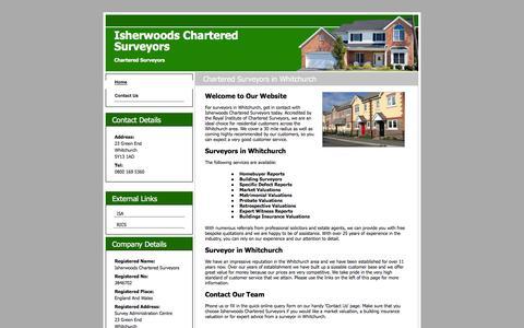 Screenshot of Home Page surveyorsshropshire.com - Surveyors in Whitchurch : Isherwoods Chartered Surveyors - captured Feb. 11, 2016