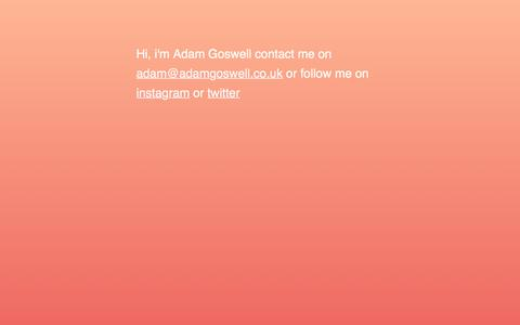 Screenshot of Home Page adamgoswell.co.uk - Adam Goswell - captured Oct. 7, 2017