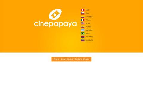 Screenshot of Home Page cinepapaya.com - Cinepapaya - captured July 11, 2014