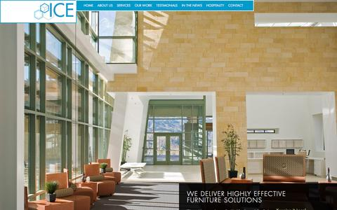 Screenshot of Home Page icesd.com - ICE - Highly Effective Commercial Furniture Solutions - San Diego, California - captured Nov. 3, 2015