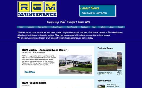 Screenshot of Press Page rgmmaintenance.com.au - RGM Maintenance - Heavy Vehicle Maintenance & Repair Specialists   News - captured Oct. 22, 2017