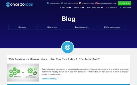 Screenshot of Blog concettolabs.com - Official Blogs Concetto Labs | Web & Mobile App Development Company India - captured July 8, 2018