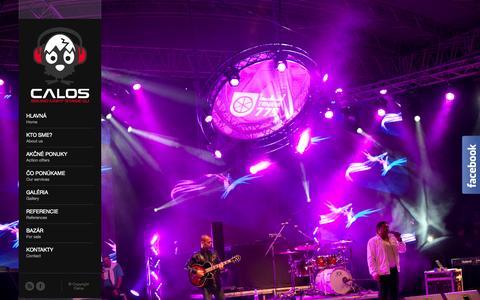 Screenshot of Home Page calos.sk - Calos | Osvetlenie a ozvučenie eventov - captured Oct. 1, 2014