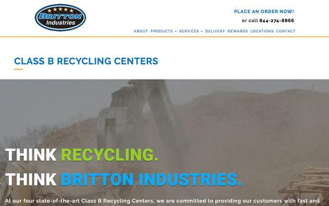 Screenshot of Locations Page brittonindustries.com - Britton Recycling Centers | Britton Industries: Proudly Serving NJ & PA For Over 27 Years - captured Oct. 11, 2017