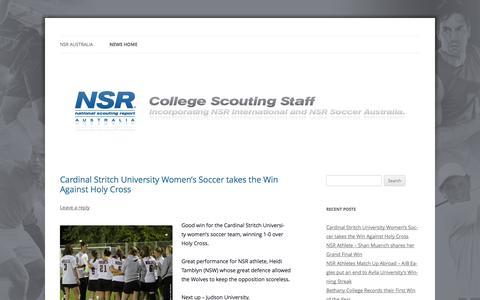 Screenshot of Press Page nsraustralia.com - NSR Australia   Australia's premier scouting service - captured Oct. 7, 2014