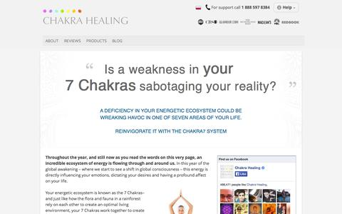 Screenshot of Products Page chakrahealing.com - Seven Chakras Of The Body - What Are They | Chakra Healing - captured Oct. 31, 2014