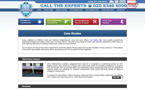 Screenshot of Case Studies Page airconco.com - Air Conditioning Case Studies | Airconco - captured Sept. 25, 2014
