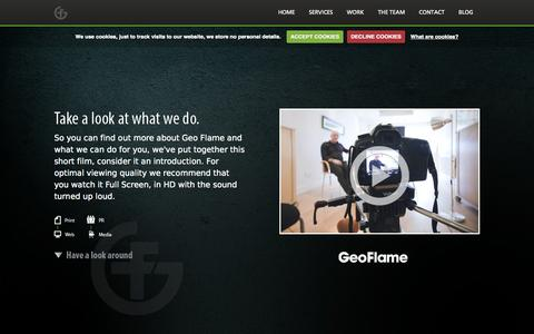 Screenshot of Team Page geo-flame.com - The Team - Geo Flame - captured Sept. 29, 2014