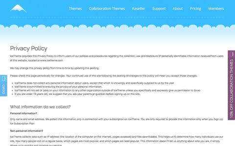 Screenshot of Privacy Page icetheme.com - Privacy Policy - captured June 7, 2017