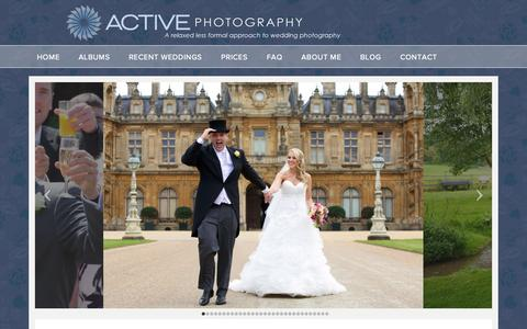 Screenshot of Home Page Login Page activephotography.co.uk - Wedding Photographer in Buckinghamshire - Active Photography - Wedding Photography Services - captured Sept. 30, 2014