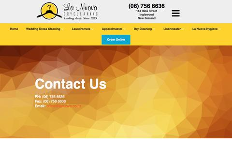 Screenshot of Contact Page lanuova.co.nz - Contact Us | La Nuova - captured Oct. 19, 2016