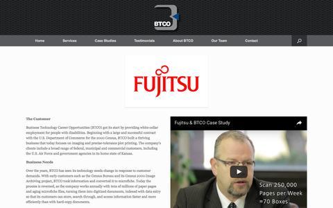 Screenshot of Case Studies Page btcoinc.com - Case Studies - BTCO Inc - captured Nov. 23, 2016