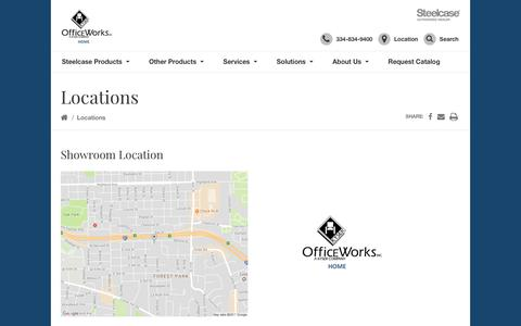 Screenshot of Locations Page kyserofficeworks.com - Locations Archive - Kyser OfficeWorks. Inc. - captured Oct. 16, 2018