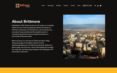 Screenshot of About Page brittmore.com - About - captured Oct. 11, 2017