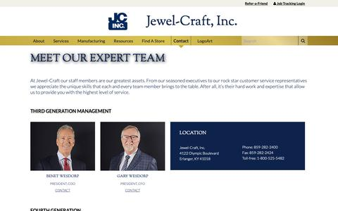 Screenshot of Team Page jewel-craft.com - Our Team – Jewel-Craft - captured Oct. 13, 2018