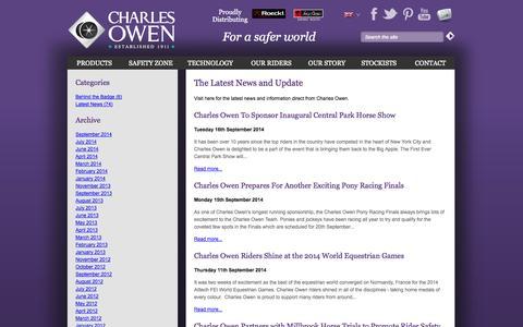 Screenshot of Blog charlesowen.com - News and Blog | Charles Owen & Co (Bow) Ltd - captured Sept. 29, 2014