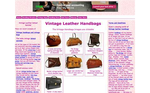 Screenshot of Home Page suziefloozie.com - Vintage Leather Handbags school satchel, brown satchels, leather vintage Bags, Shoulder, holdall clutch Gladstone Hobo - captured June 15, 2016
