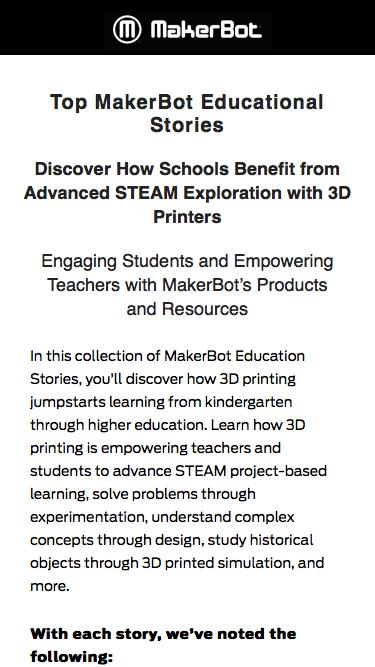 Top MakerBot Educational Stories