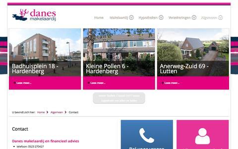 Screenshot of Contact Page danesmakelaardij.nl - Contact - captured July 31, 2016
