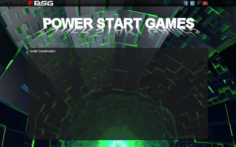 Screenshot of About Page powerstartgames.com - Power Start Games - About - captured July 15, 2016