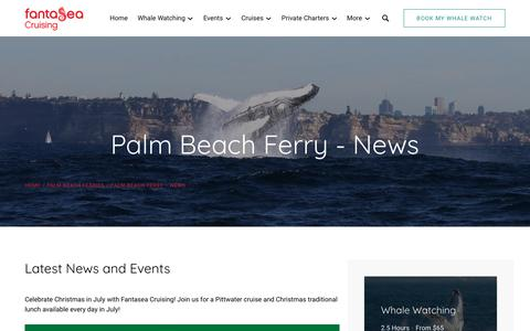 Screenshot of Press Page fantasea.com.au - Palm Beach Ferry News | Fantasea Cruising - captured Oct. 10, 2018
