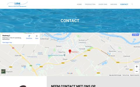 Screenshot of Contact Page zwembadengroothandel.nl - Contact - Zwembaden Groothandel HRS - captured Sept. 26, 2018