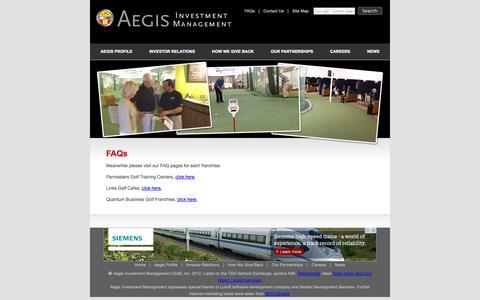 Screenshot of FAQ Page aegisinvestmentmanagement.com - Aegis Investment Management - captured Sept. 30, 2014