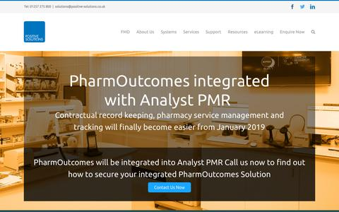 Screenshot of Home Page positive-solutions.co.uk - Positive Solutions | Pharmacy IT Systems | Pharmacy PMR provider - captured Nov. 10, 2018