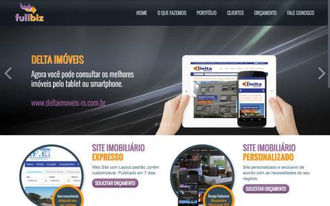 Screenshot of Home Page fullbiz.com.br - FullBiz: Site para imobiliárias e integração de Sistemas - captured Jan. 26, 2015