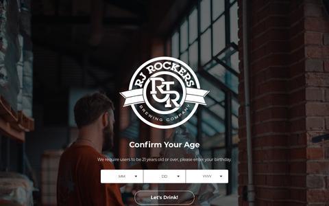 Screenshot of Contact Page rjrockers.com - RJ Rockers Brewing Co. | Contact Us | Spartanburg, SC - captured Sept. 14, 2019