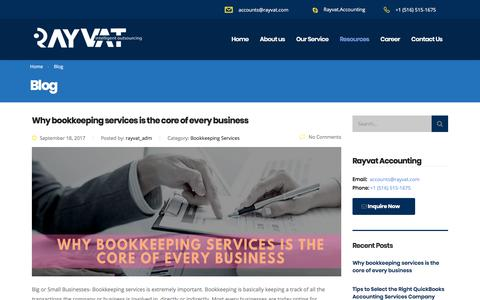 Screenshot of Blog rayvataccounting.com - Blog - Rayvat Accounting - captured Oct. 1, 2017