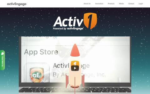 Screenshot of Products Page activengage.com - ActivOne Managed Chat - ActivEngage - captured Oct. 1, 2017