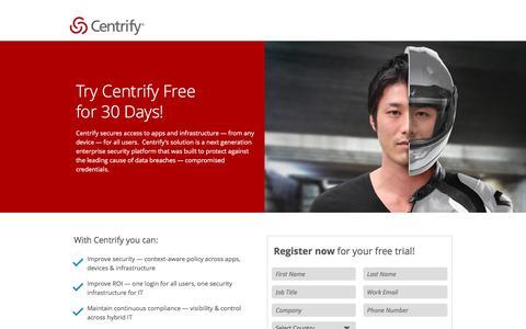 Screenshot of FAQ Page centrify.com - Enterprise Free Trial - captured Nov. 9, 2016