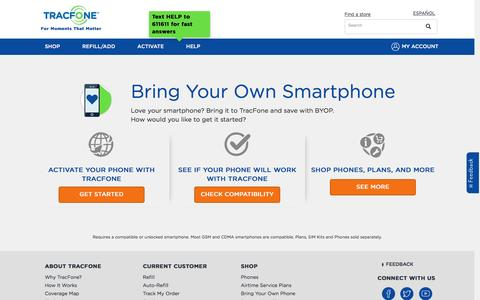 Bring Your Own Phone | No Contract | TracFone