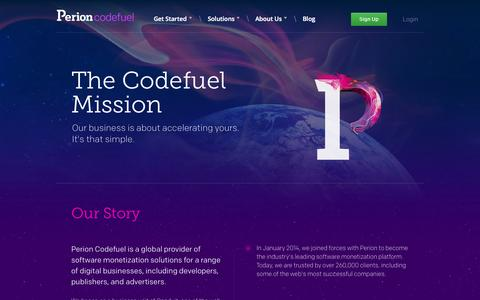 Screenshot of About Page codefuel.com - Codefuel – Read about Codefuel – Monetization Platform - captured Sept. 19, 2014